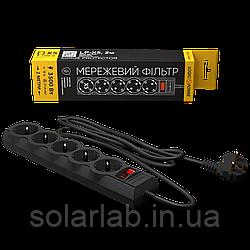 Сетевой фильтр LP-X5, 2 m Black