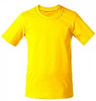Футболки детские/ подросток жёлтые однотонные, 80 - 152 см.