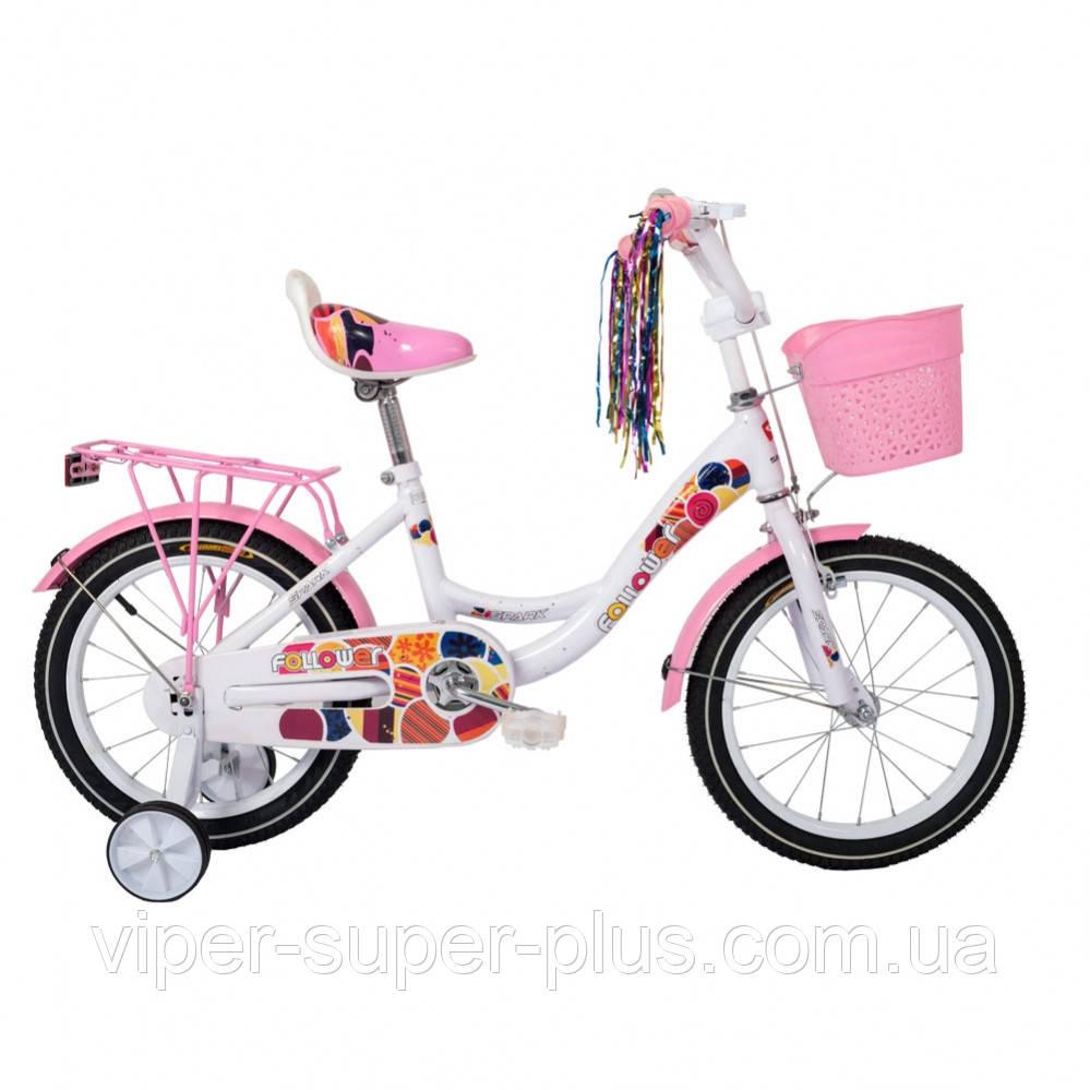 🔥✅ Велосипед Дитячий SPARK KIDS FOLLOWER TV1201-003 12 Дюймів для дівчаток Рама - Сталь!