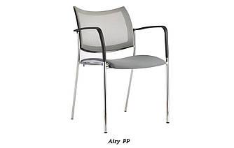 Кресло офисное конференционное с подлокотниками Enrandnepr Эйри черный