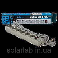 УЦ (4755) Сетевой фильтр LP-X6, 3,0 m Grey