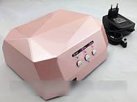 УФ лампа для наращивания ногтей Ромб 12W LED UV lamp Diamond, профессиональные лампы для ногтей