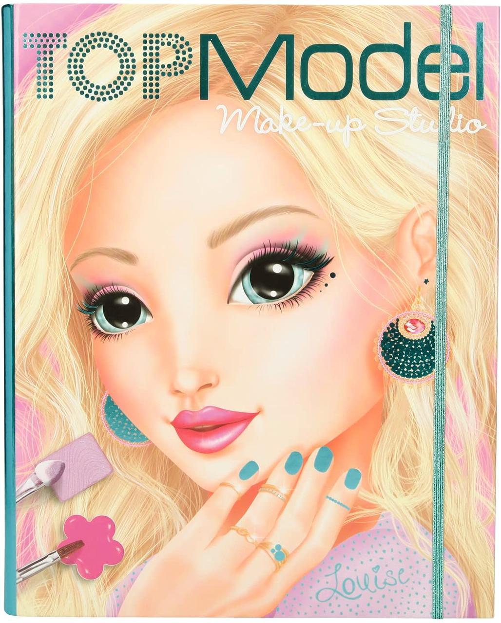 TOP Model Книга навчає макіяжу Студія Мейкап з шаблонами (ТОП Модел Набор для макияжа  Make-Up Studio 1936_A )