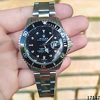 Мужские наручные часы черные в стиле Rolex. Годинник чоловічий