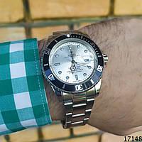 Мужские наручные часы серебристые в стиле Rolex. Годинник чоловічий