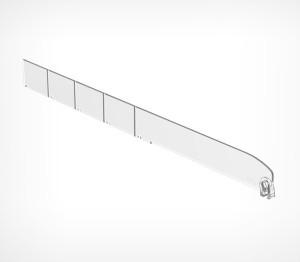 Полочный разделитель  Optimal Plus высота 120 мм, длина 385мм. б/у