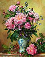 """""""Літні півонії"""" Картина по номерам цветы Розпис за номерами"""