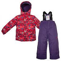 Зимний термокомплект для девочки X-Trem by Gusti, фиолетовый с розовым, размеры 92-110