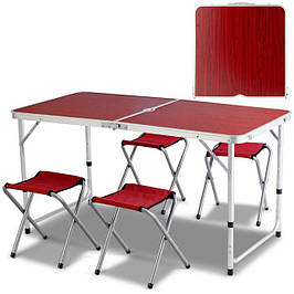 Стол Раскладной ПЛЮС четыре стула для Пикника