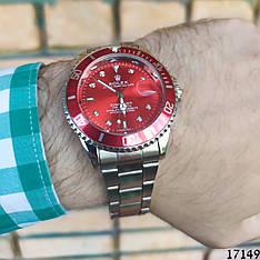 Мужские наручные часы красные в стиле Rolex. Годинник чоловічий