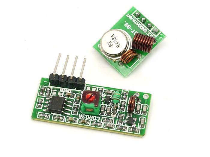 Arduino бездротовий приймач/передавач 433мГц