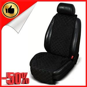 Накидки чехлы на сидения автомобиля из Алькантары (Эко-замша) Универсальные, защитные авточехлы Alcantara 1шт