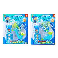 Мыльные пузыри 2068-5AB (36шт) мыльная игра, дудка, лоток, запаска2шт, 2вида, на листе,29,5-36,5-7с