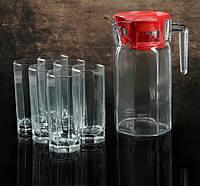 """Набор питьевой """"Кошем"""", 7 предметов: кувшин 1,3 л, 6 стаканов 265 мл."""