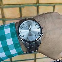 Мужские наручные часы серебристые Goldlis. Годинник чоловічий