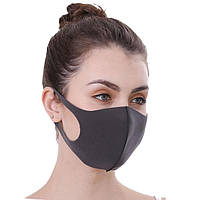 Многоразовые защитные маски PITTA MASK SponDuct BLACK Original 3 шт
