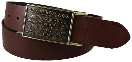 Ремень  Levi's Men's 38MM Plaque Bridle Belt With Snap Closure 2
