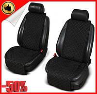 Накидки чехлы на сидения автомобиля из Алькантары Эко-замша два универсальные защитные авточехлы Черные 2 шт