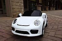Детский электромобиль Porsche (белый цвет) с дистанционным пультом управления