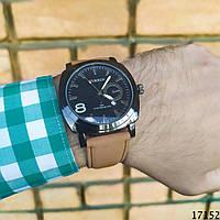 Мужские наручные часы черные Curren. Годинник чоловічий