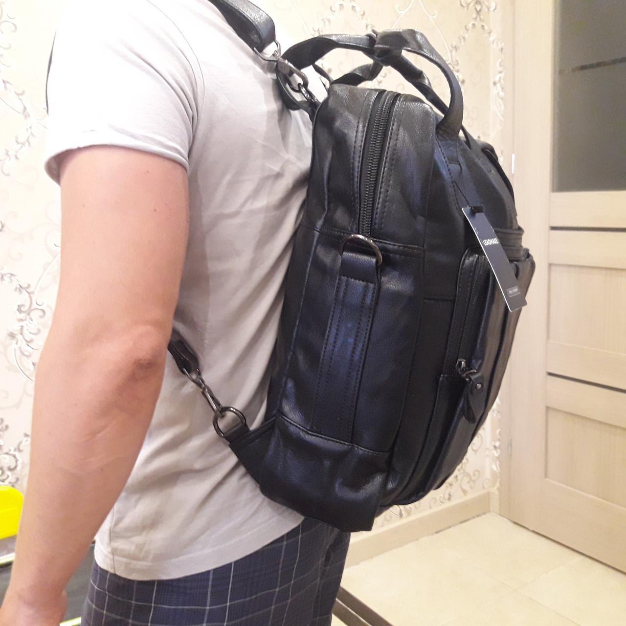 Черный молодежный рюкзак городской