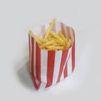 Пакет бумажный для картошки фри с красной полоской, 700мл. 500 шт Украина для картошки фри с красной полоской, 700мл. 500 шт