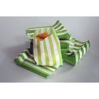 Пакет бумажный для картошки фри с зеленой полоской, 700мл. 500 шт Украина для картошки фри с зеленой полоской, 700мл. 500 шт