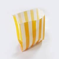 Пакет бумажный для картошки фри с желтой полоской, 700мл. 500 шт Украина для картошки фри с желтой полоской, 700мл. 500 шт