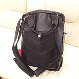 Черный молодежный рюкзак городской, фото 3