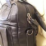 Черный молодежный рюкзак городской, фото 4