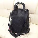 Черный молодежный рюкзак городской, фото 6