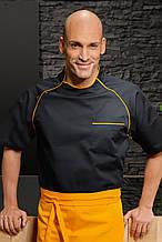 Китель повара в стиле sport Т-268-KМ (black&ellow)