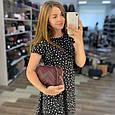 Сумка в форме коробочки с украшением / натуральная кожа арт. кт-954 Бордовый, фото 8