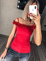 Блуза летняя красная SKL11-259317