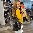 Рюкзак с вместительным карманом спереди / натуральная кожа (кт-2832) Коричневый, фото 9