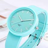 Женские часы c зеленым силиконовым ремешком код 614, фото 2