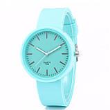 Женские часы c зеленым силиконовым ремешком код 614, фото 3