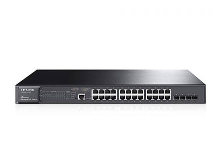 Коммутатор TP-Link T2600G-28MPS JetStream (24*Gigabit PoE+, 4*SFP, 384W max, L2+), фото 2