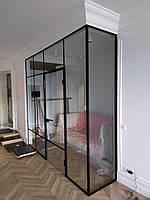 Скляна Перегородка двері в коробці в стилі Лофт