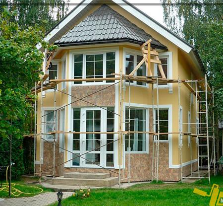 Фасады загородных домов фото варианты отделки