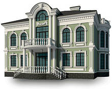 Дизайн отделки фасада дома фотопример