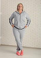 Женский повседневный спортивный костюм трикотаж двунитка, большие размеры | 732 Zeta-m
