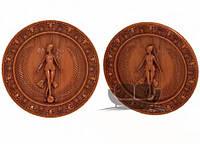 Панно под медальоны и другой резной декор из дерева