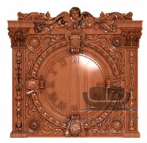 Часы резные из дерева для интерьеров на заказ