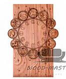 Часы резные из дерева для интерьеров на заказ, фото 2