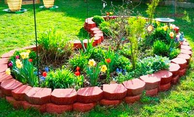 Бордюр для клумбы и садовые заборчики под заказ