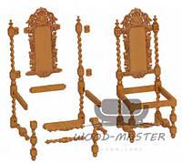 Резная мебель из дерева и элементы к ней
