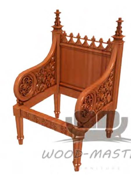Резные деревянные стулья и декор к ним