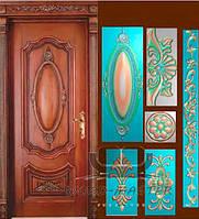 Красивые резные наличники на двери