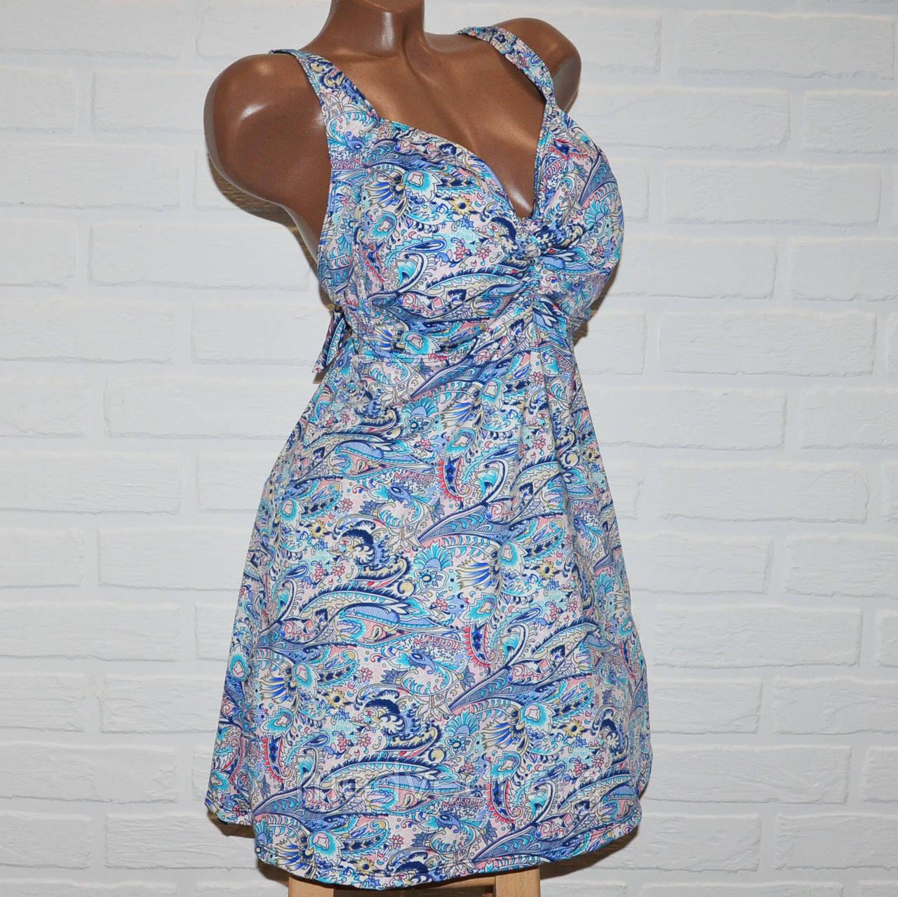 Купальник платье, размеры 64, 66, 68 женский танкини разноцветный узор